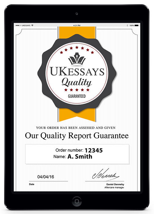 Sample of our quality report on an iPad screen.